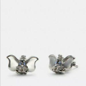 Coach Dumbo silver tone earrings new